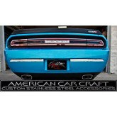 2008-2012 Dodge Challenger R/T + SRT-8 Brushed Stainless Bumper Insert Trim Plate