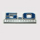 Ford Mustang 5.0 Turbocharged Emblem - Blue