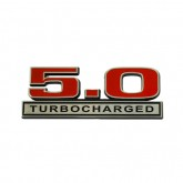 Ford Mustang 5.0 Turbocharged Emblem - Red