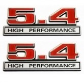 Ford Mustang 5.4 High Performance Emblems - Red