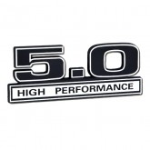 Ford Mustang 5.0 High Performance Emblem - Black