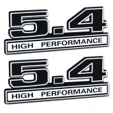 Black & Chrome 5.4 High Performance Emblems - Pair - Universal Application