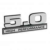 Ford Mustang 5.0 High Performance Emblem - White