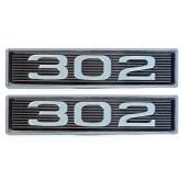 Ford Boss & Windsor 302 5.0L Chrome Plated Hood Scoop Emblems - Pair