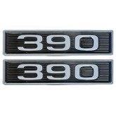 Ford FE 390 6.4L Chrome Plated Hood Scoop Emblems - Pair