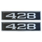 Ford FE 428 7.0L Chrome Plated Hood Scoop Emblems - Pair
