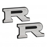 "Chrome ""R"" Emblems - Pair"
