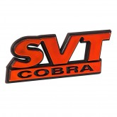 1999-2004 Mustang SVT Cobra Rear Deck Lid Emblem - Red Metallic