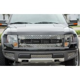 2010-2013 Ford F-150 Raptor Stainless Steel Front Grille Letters - Carbon Fiber