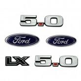 1987-93 Mustang LX 5.0 Fender & Bumper Emblem Set