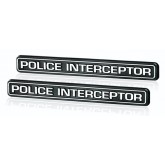 Chrome Police Interceptor Emblems for Crown Vic Taurus Mustang Explorer Charger & Durango