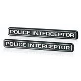 Chrome Police Interceptor Emblems for Crown Vic Taurus Mustang Explorer Charger & Durango