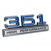 351 High Performance Emblem - Blue