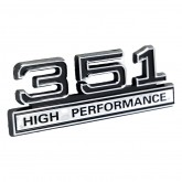 351 High Performance Emblem - Black