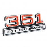 351 High Performance Emblem - Red