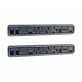 2003-2004 Mustang Cobra Chrome & Black Terminator Fender/Trunk/Dash Emblems - Pair