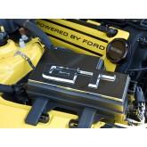2015-2017 Mustang Chrome Billet Aluminum Engine Fuse Box Cover w/ OEM GT Emblem