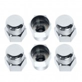 1982-1993 Mustang Chrome Plated Strut Stud Nut Caps Covers - Set of 6