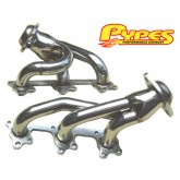 2005-2009 Mustang V6 Pypes Polished T-304 Shorty Headers - Pair