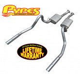 "1986-1993 Pypes Mustang LX 5.0L Stainless Cat-Back Exhaust w/ 3"" Polished Tips"
