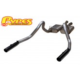 "1986-1993 Mustang LX 5.0L Pypes 3.0"" Black Tips 409 SS Phantom Cat-Back Exhaust System"