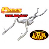 "1987-1993 Pypes Mustang GT 2.5"" ""The Beast"" Header-Back Exhaust System w/ X-Pipe"
