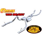 "1986-1993 Mustang LX 5.0L Pypes 2.5"" Header-Back Exhaust System w/ X-Pipe"