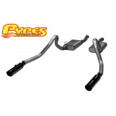 1996-2004 Mustang GT Pypes Phantom Cat Back Stainless Steel Exhaust System w/ Black Tips