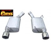 "2005-2009 Mustang GT 2.5"" T-409 Axle-back Exhaust System w/ Violator Mufflers"