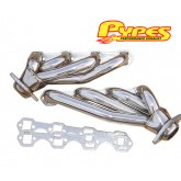 1986-1993 Pypes Mustang 5.0L Polished Stainless Shorty Headers - Pair