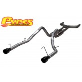 2005-2009 Mustang V6 4.0 PYPES Phantom True Dual Mid Muffler Exhaust Black Tips