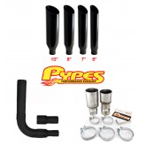 Pypes Diesel Truck Single Stack Miter Cut Exhaust Kit - Black