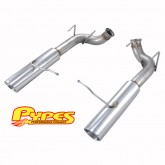 """2011-2014 Mustang GT Pypes 3.0"""" Pype-Bomb Axle-Back Muffler-Delete System"""