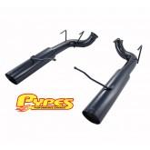 "2011-2014 Mustang GT Pypes 3.0"" Black Pype-Bomb Axle-Back Muffler-Delete System"