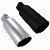 "Ford Chevy & GMC Diesel Truck  4"" In 6"" Out 12"" Long Exhaust Tip - Black or Polished"