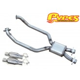 "1999-2004 Mustang GT PYPES 2.5"" H-Box Mid H-Pipe HFM37 w/ Catalytic Converters"