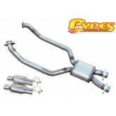 "1999-2004 Mustang GT PYPES 2.5"" X-Box Mid Pipe XFM37 w/ Catalytic Converters"