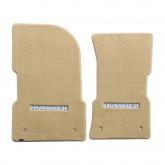 1997-2006 H1 Hummer Tan Front Floor Mats w/ Silver Hummer Logo