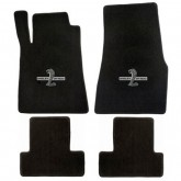 2013-2014 Mustang 4pc Black Floor Mat Set w/ GT500 Snake Logo