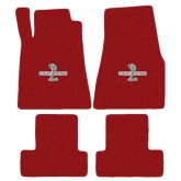 2013-2014 Mustang 4pc Red Floor Mat Set w/ Shelby GT500 Snake Logo