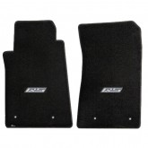 2010-2015 Chevy Camaro Ebony Front Floor Mats w/ RS Logo Embroidery