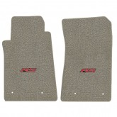 2010-2015 Chevy Camaro Grey Front Floor Mats w/ RS Logo Embroidery