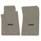2010-2015 Chevy Camaro Grey Front Floor Mats w/ SS Logo Embroidery