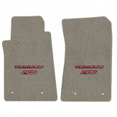 2010-2015 Chevy Camaro Grey Front Floor Mats w/ CAMARO and RS Logo Embroidery