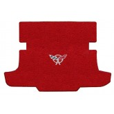 1997-2004 C5 Chevrolet Corvette Torch Red Coupe Cargo Trunk Mat with Crossed Flags or Z06 Logo Embroidery