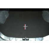 2005-2009 Mustang Black Charcoal Rear Trunk Cargo Mat w/ Pony & Tri Bar Logo Embroidery