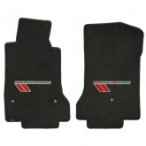 2010-2013 Corvette Grand Sport Ebony Front Floor Mats with Silver & Red Logo
