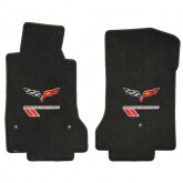 2010-2013 Corvette Grand Sport Ebony Front Floor Mats with Flags & GS Logos