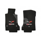 2007.5-2013.5 C6 Corvette 2pc Floor Mats w/ Z06 505HP and Corvette Logo Embroidery