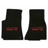 2008-2010 Dodge Challenger SRT-8 Ebony Front Floor Mats - Pick Your Logo Color